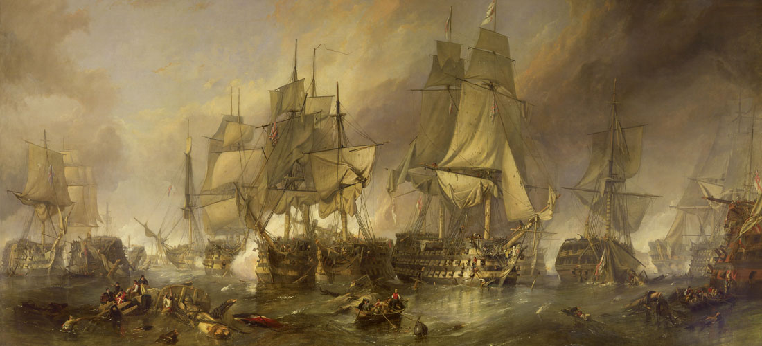 Battle of Trafalgar by William Clarkson Stanfield
